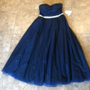 Navy blue sparkle gown